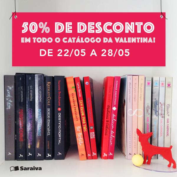 Catálogo da Editora Valentina com 50% de desconto
